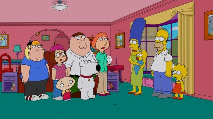 Family Guy Full Episodes 2015 ★ Family Guy Simpsons Crossover HD