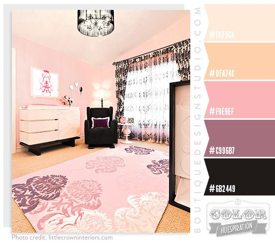 pink, purple and gold/cream color scheme