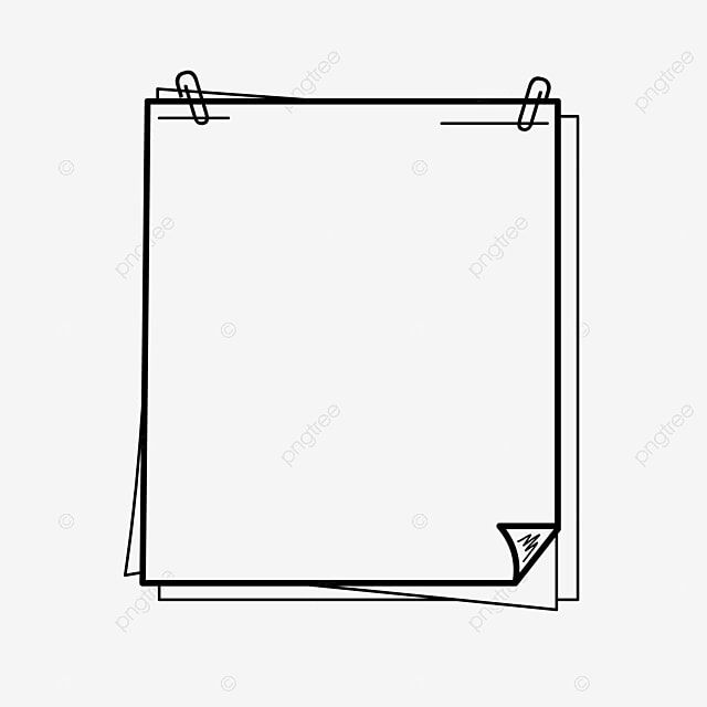 Hand Drawn Black And White Lines Note Paper Border Border Clipart Photo Cartoon Hand Drawn Style Border Png And Vector With Transparent Background For Free D Borders For Paper Black And
