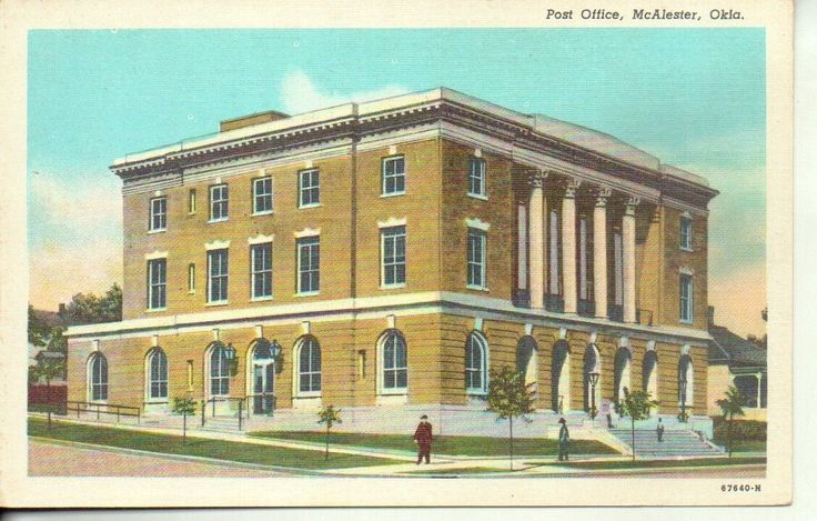 1940s Linen McAlester Oklahoma Post Office | eBay
