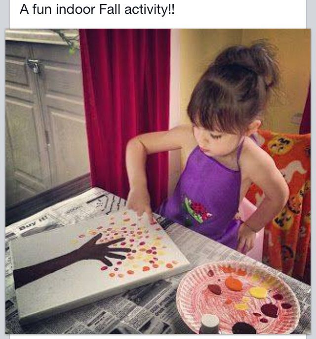 Thanksgiving/ fall kid craft idea. Finger paints