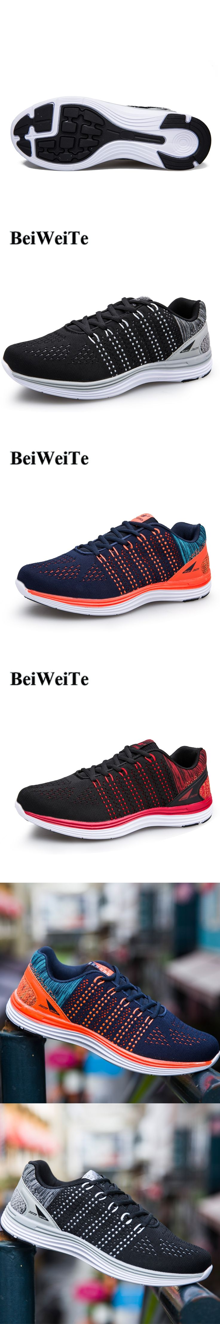 BeiWeiTe 40-48 Big Size Mens Running Shoes Summer Light Sports Shoes For Men Anti-Skid Jogging Trainer Shoes New Brand Shoes