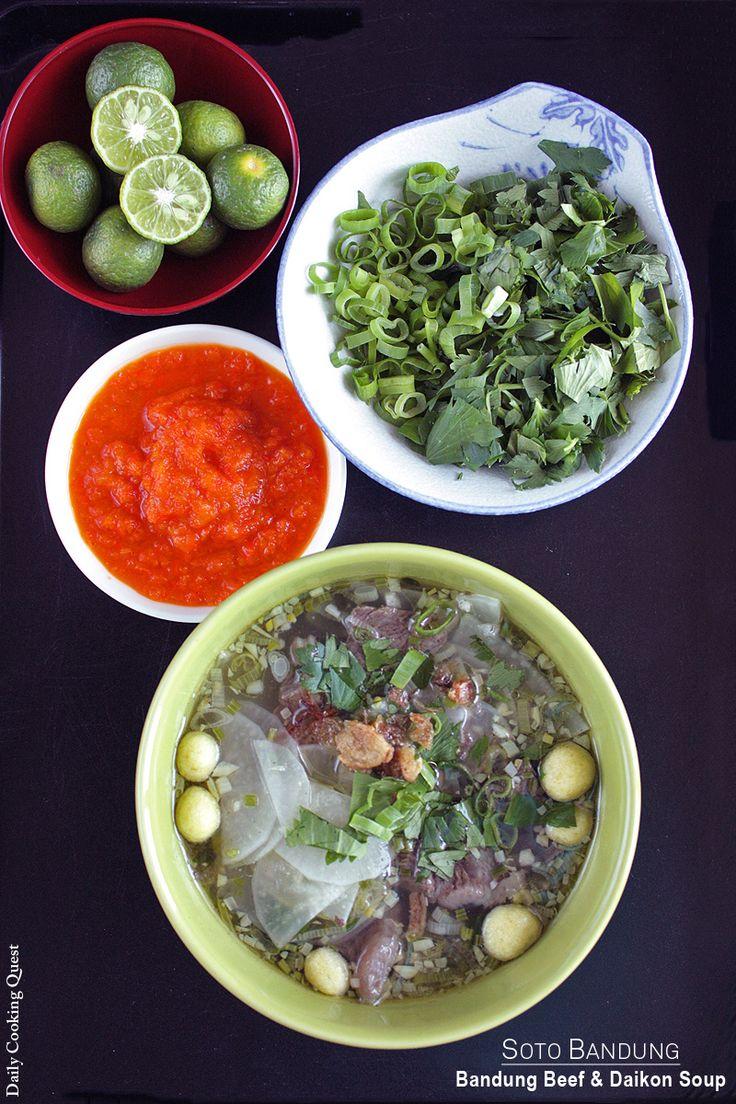 Soto Bandung – Bandung Beef and Daikon Soup