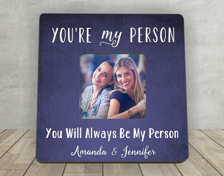 Gift for Friend, Christmas Gift for Friend, You're My Person, Best Friend Gift, Personalized Picture Frame, Personalized Best Friend Gift by EnchantedHillStudios on Etsy