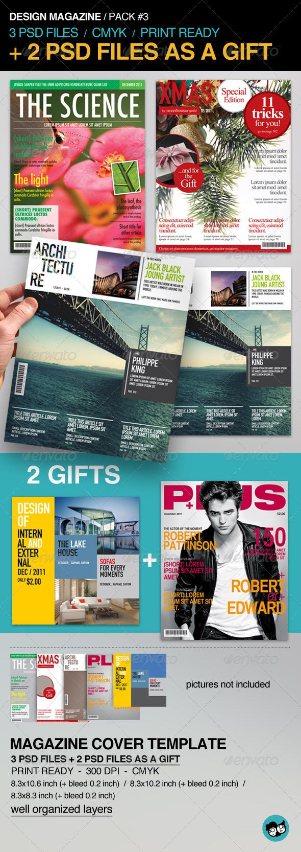magazine covers templates free