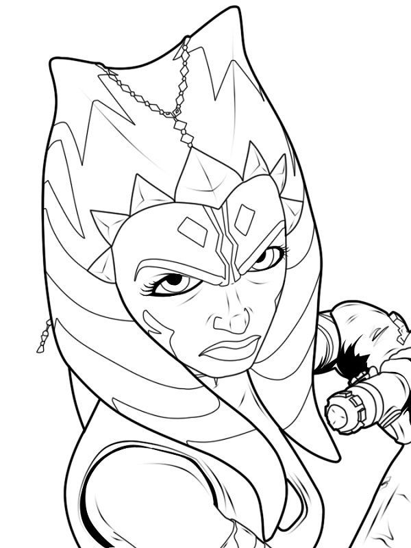 black and white coloring pages star wars ahsoka Google