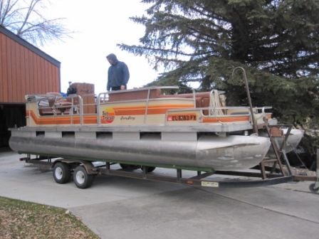 The Dempsey Family Party Barge Rebuild  1984 Suntracker Party Barge 24ft Rebuild - Pontoon Forum > Get Help With Your Pontoon Project