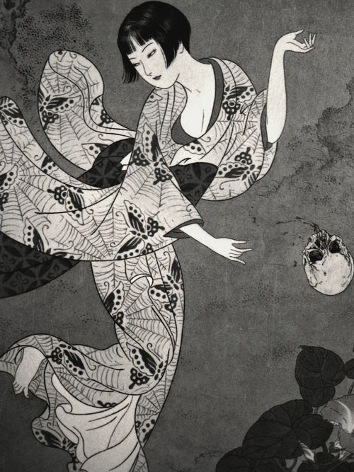 "geisha-pen-blunt:  Takato Yamamoto - Skull Ball; from ""Altar of Narcissus"" artbook."