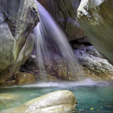 Descente du Canyon de Barbaira près de Menton - Niveau Facile
