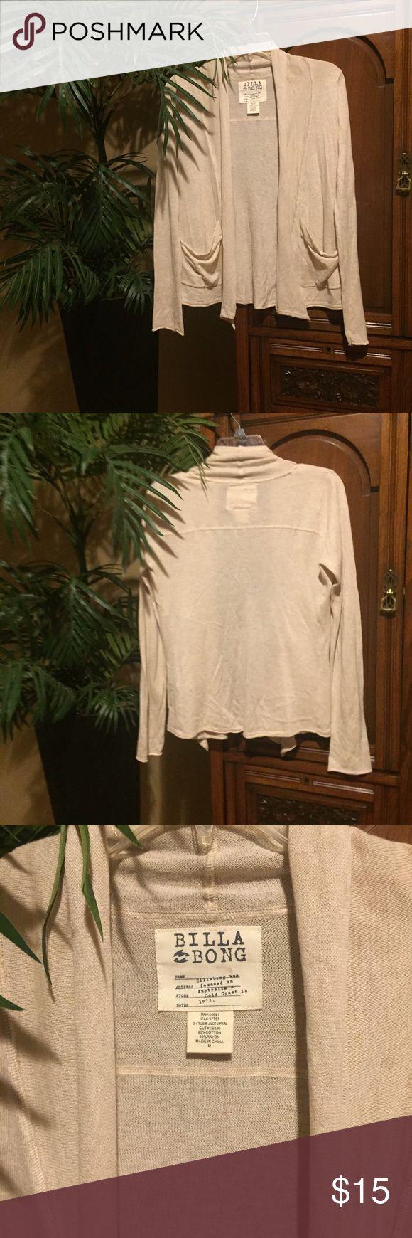 Billabong Lightweight Beige Cardigan Sweater SZ M Billabong Lightweight Beige Cardigan Sweater SZ M Billabong Sweaters Cardigans