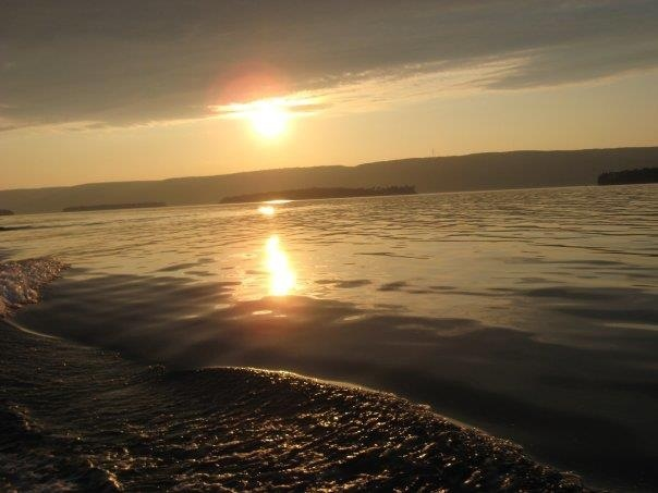 Sunset on the bras'dor lakes cape Breton