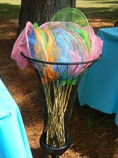 Bug nets for bug party - float 'bugs/butterflies/dragonflies' etc from somewhere high up and kids have to try and catch them
