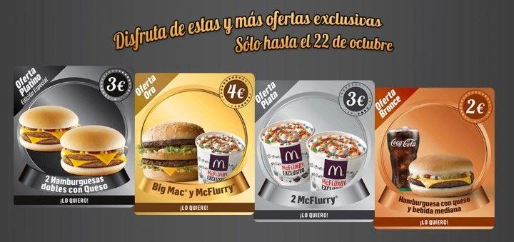 cupon descuento McDonalds octubre 2015