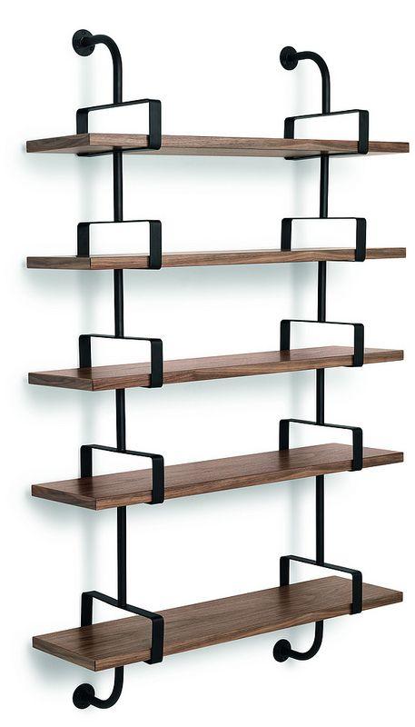 GUBI // Demon Shelf 5 shelves, width 95 cm in walnut. Designed by Matheiu Matégot