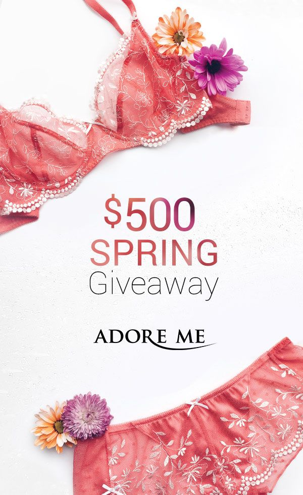 Need to update your wardrobe for Spring? Start with your lingerie! Enter to win $500 to shop Adore Me. Click through for all of the deets <3 #giveaway