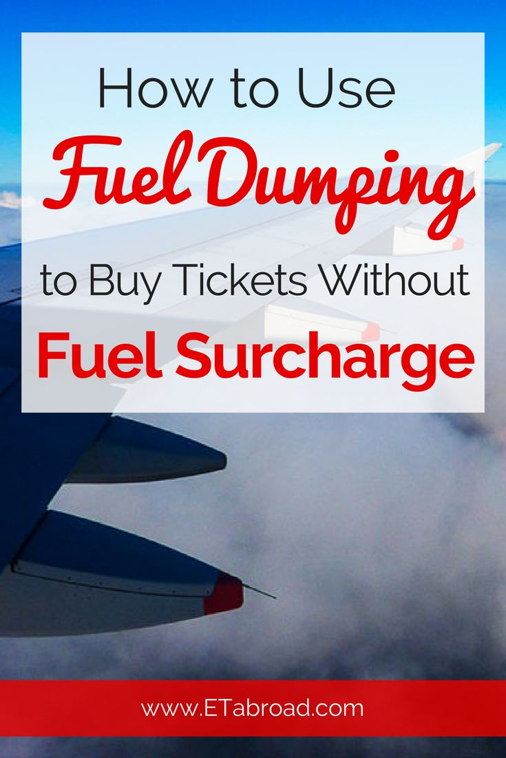 Fuel Dumping is the magic word that is a growing much on the forums. It is the way of the fare deducted at least part of the fuel surcharge.