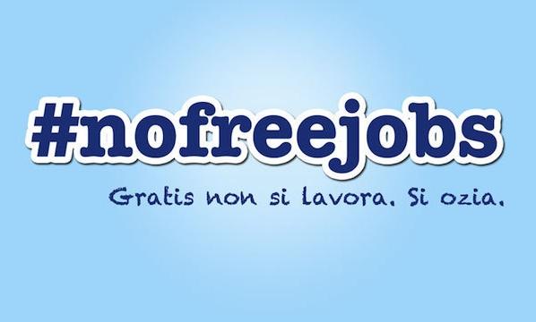Il nostro l'obiettivo è quello di sensibilizzare le persone che lavorare gratis non porta a niente.