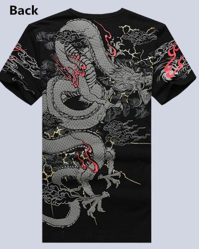 Dragon t shirt Chinese style plus size tattoo t shirts personalized design