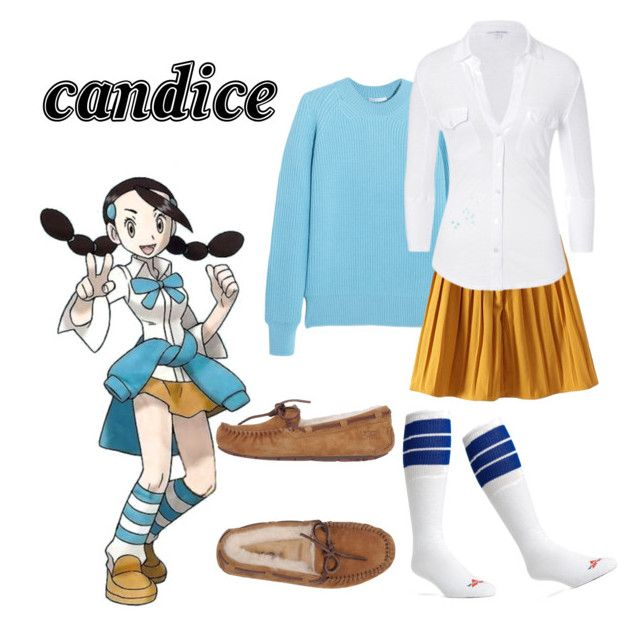 """Pokemon Candice"" by rachel-hubby ❤ liked on Polyvore featuring moda, Chloé, James Perse, Wigwam i UGG Australia"