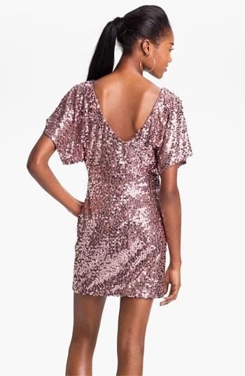 As U Wish Cold Shoulder Sequin Dress (Juniors) | Nordstrom NYE!