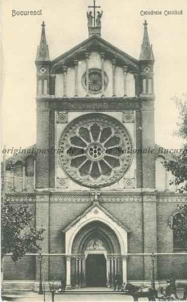 BU-F-01073-5-00214 Catedrala Catolică Sfântul Iosif din Bucureşti, construită între anii 1873-1884, după planurile arhitectului vienez dr. Friedrich Schmidt, s. d. (sine dato) (niv.Document)