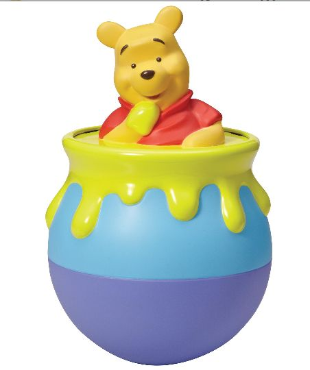 Disney Winnie the Pooh Roly Poly Pooh With one gentle push Pooh will roll from side to side making a gentle chime sound.