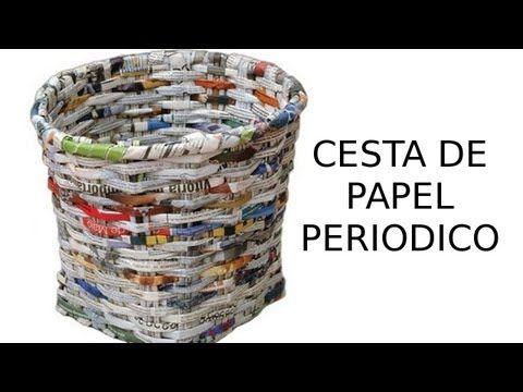 1000 im genes sobre paper basket en pinterest cesta - Cestas de periodico ...