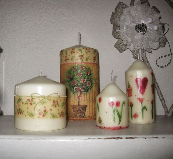 Delle normali candele bianche........trasformate