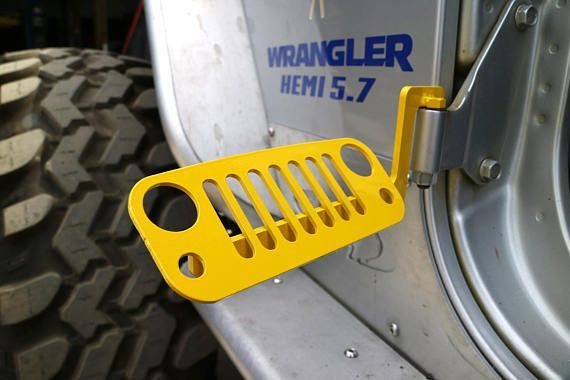 Jk Wrangler Jeep Foot Pegs 2007 2018 Yellow Pair Jeep