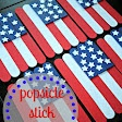 """Popsicle stick flags-Need-jumbo popsicle sticks. Cut (2) 3 1/2"""" sticks & (3) 3"""" sticks. Popsicle sticks can be cut with scissors! Also need 5 uncut popsicle sticks, & some stars.Cut stars from white card stock with a star punch, or use stickers,paint, or whatever.Paint 3 red,2 white, & 3-3"""" blue popsicle sticks. No need to paint 3 1/2"""" sticks.Use those to glue your stripes on.Use Elmers Glue to hold sticks together & to put on blue sticks. Glue on stars. Can be hot glued on ribbon for…"""