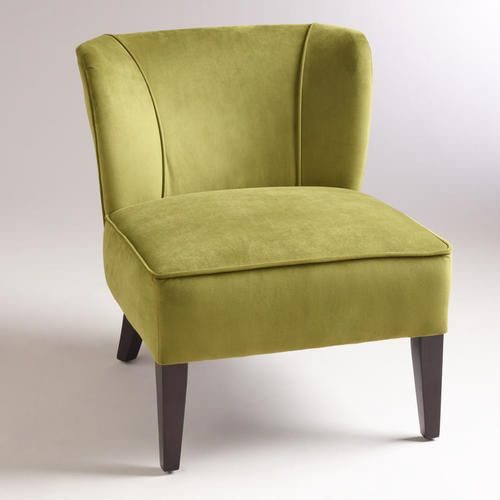 Here is the chair you wanted from World Market.  Only Green & Blue .... Sorry no Purple yet !