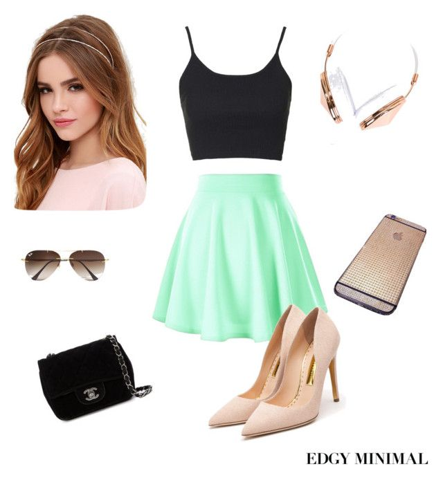 """""""Salida de amigas"""" by lalistamar on Polyvore featuring Lulu*s, Ray-Ban, Topshop, Chanel, Rupert Sanderson and Frends"""