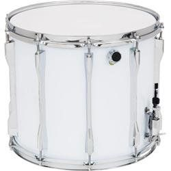 "Verve X Series Marching Snare Drum White 13X11 by Verve. $119.99. The Verve Marching Snare Drum is made from select woods for punchy, explosive sounds. Available in white or black. 14"" models have a 10-lug design while 13"" models have an 8-lug design. One-piece tension drums offer precise tuning and durability."
