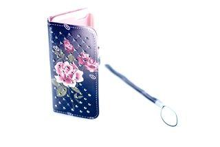 Estuche Piedras Finas Azul Rosa Iphone 5 — HighTeck Store