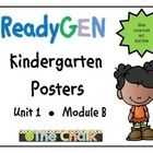 NYC Kindergarten teachers implementing the Ready Gen curriculum will find these posters to be a great resource. I have included the unit theme, big...