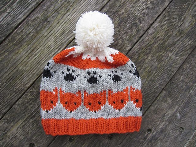 Free knitting pattern for fox hat on Ravelry by Berit Løkken