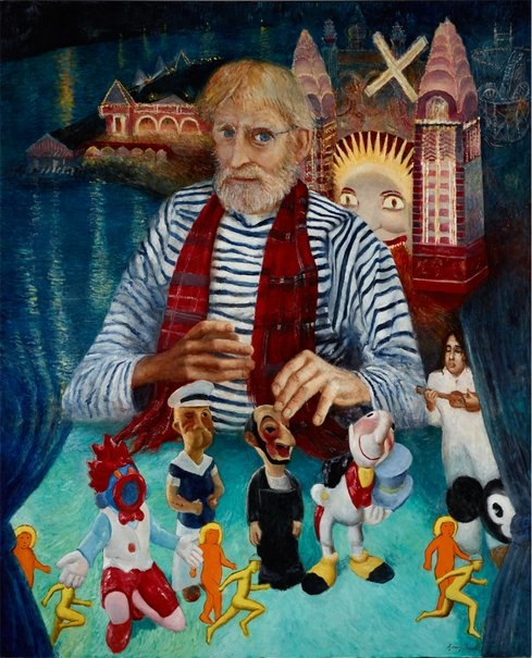 Garry Shead: Martin Sharp and his magic theatre :: Archibald Prize 2012 :: :: Art Gallery NSW
