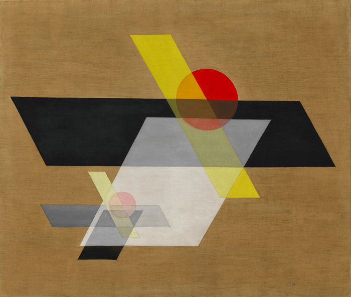 László Moholy-Nagy, A II (Construction A II), 1924, oil and graphite on canvas.©2016 HATTULA MOHOLY-NAGY/VG BILD-KUNST, BONN/ARTISTS RIGHTS SOCIETY (ARS), NEW YORK/SOLOMON R. GUGGENHEIM MUSEUM, NEW YORK, SOLOMON R. GUGGENHEIM FOUNDING COLLECTION