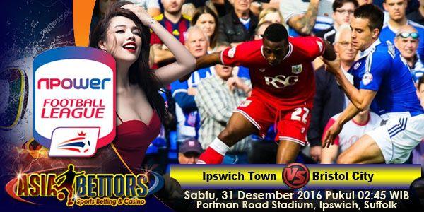 Prediksi Ipswich vs Bristol City, Prediksi Bola Ipswich Town vs Bristol City, Ipswich Town vs Bristol City akan bertemu di partai lanjutan Championship Inggris yang rencananya akan digelar pada hari Sabtu, 31 Desember 2016 Pukul 02:45 WIB dan disiarkan secara live dari Portman Road Stadium, Ipswich, Suffolk.
