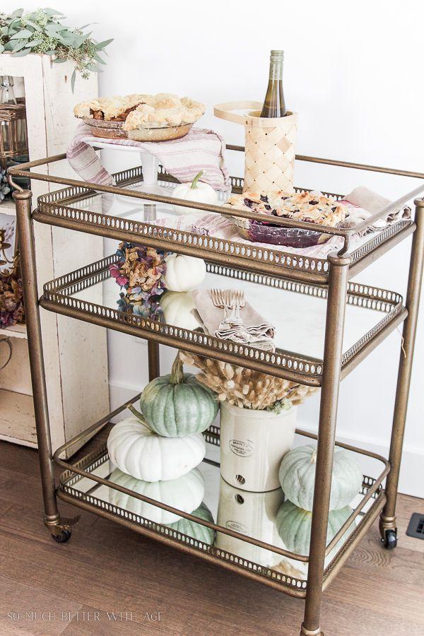 Dessert / bar cart from Soft Surroundings