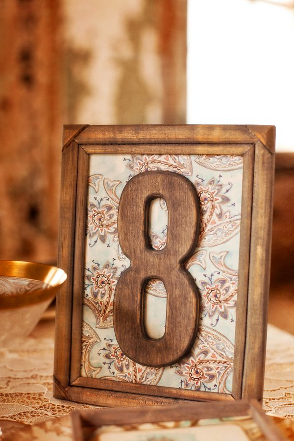 rustic wood table numbers // photo by CunninghamPhotoArtists.com