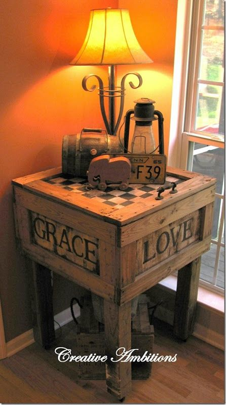 Crate Love A Crate table..... love the rustic look, I will be make this table for my home... ;)