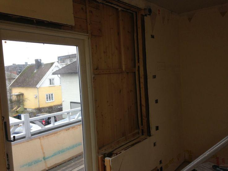 Veien til drømmebolig: Verandadør og vindu bytter plass!