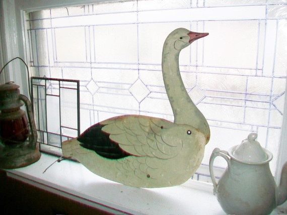 Vintage Snow Goose Decoy Large 22 Inch Several by RedRiverAntiques