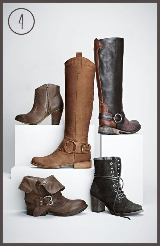 Aldo 'Fastrost' bootie, Steve Madden 'Bankker', 'Judgement', and 'Gretell'  boots and Report 'Woods' boot. fall boot season now plzzzzzz