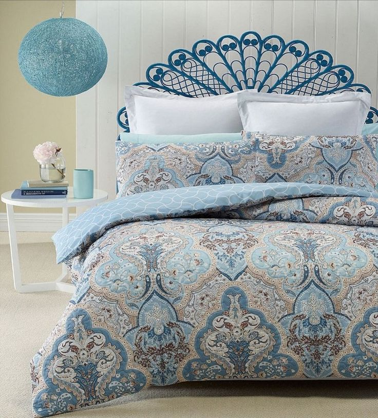 Phase 2 Madras Blue Heat Pressed Quilted Quilt Doona Cover Set ... : quilted quilt - Adamdwight.com