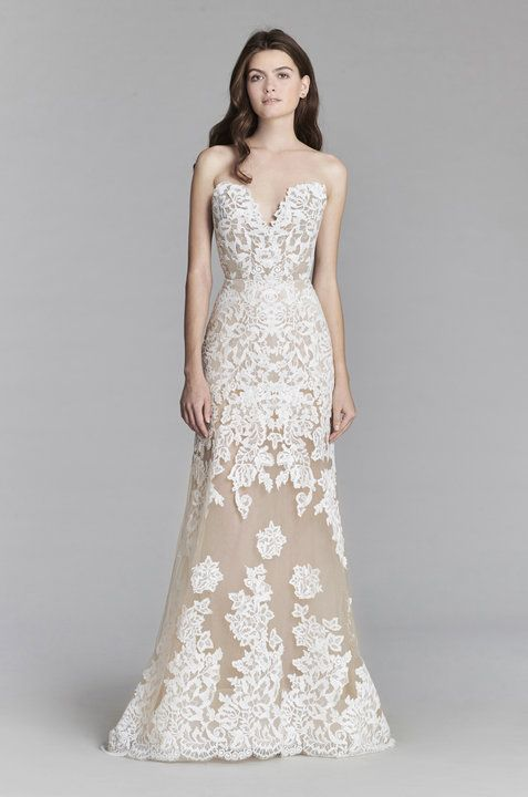 Jim Hjelm By Hayley Paige Convertible Illusion Lace Wedding Dress