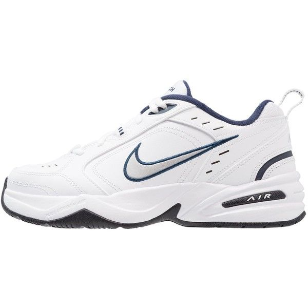 Nike Sportswear AIR MONARCH IV Sneakers ❤ liked on Polyvore featuring shoes, sneakers, silver metallic shoes, white sneakers, nike footwear, white shoes and nike sneakers