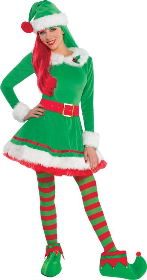 Adult Green Elf Costume - Party City