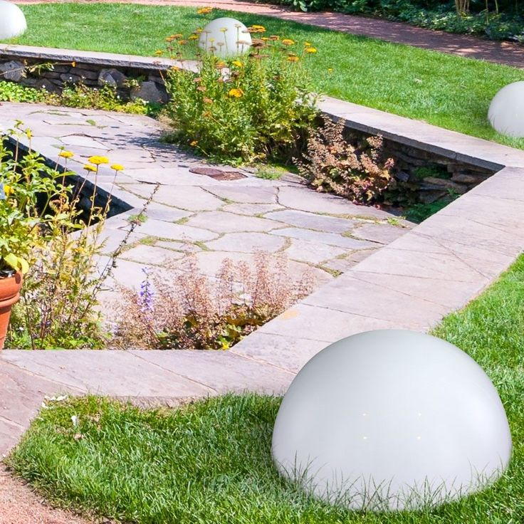 Luce per esterni LED Solare Illuminazione IP44 Lampade da giardino bianco